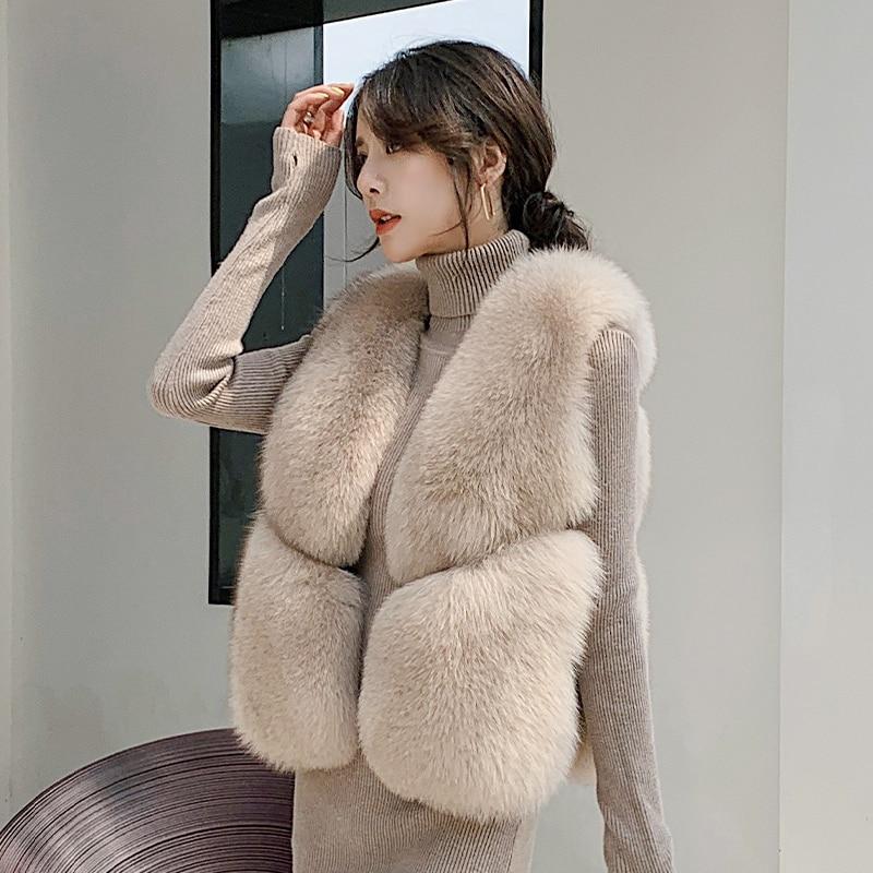 real fur fox fur coat design ladies winter really fox fur coat detachable real fur coat women short fur vest waistcoats