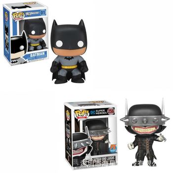 funko pop figura Justice League DC toys Batman super heroes 10CM pvc action figure collection model movie figures doll with box xinduplan dc comics play arts justice league arkham knight batman movable action figure toys 27cm kids collection model 0272