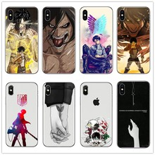 Anime Japanese attack on Titan Design White Skin Soft silicone Case for iPhoneXSMax XS XR 6 6s Plus 7 7Plus 8 8Plu SE phone case(China)
