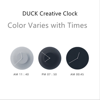 DUSK Clock Wall  Color Gradient Simple Creative Antique Classic Style INS Varies with Time