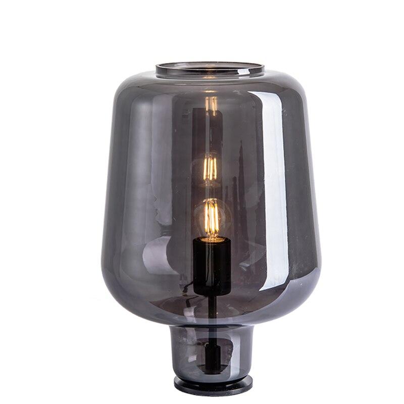 Moderne E27 LED fer verre noir chevet petite lampe de Table avec interrupteur pour chambre salon Table ornements éclairage décoratif
