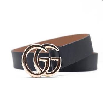 New mens and womens high-quality belt belt, double g-letter fashion casual student trend