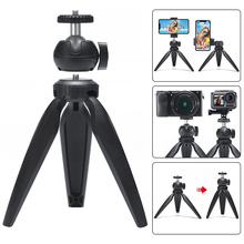 Mini Tripod 360 Degree Removable Ball Head with Phone Mount for DSLR Camera Smartphone