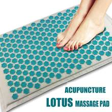Mat Lotus Spike Acupressure Massager Relaxation Relief Stress Cushion Yoga Mat Relieve Body Stress Pain Spike Winter Yoga Mat(China)