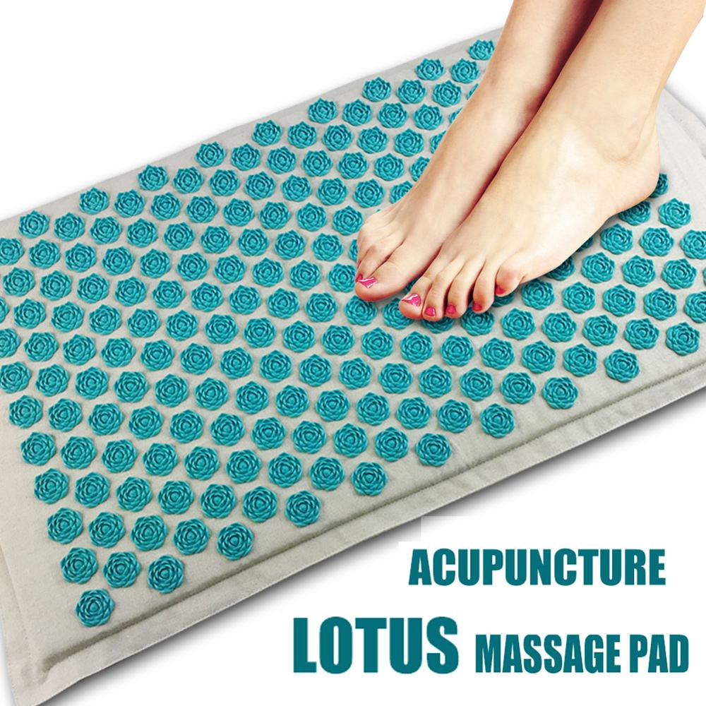 Lotus Spike Acupressure Massager Mat Relaxation Relief Stress Tension Body Yoga Mat Relieve Body Stress Pain Spike Cushion Mat