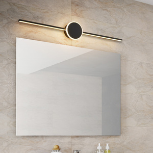Image 4 - Black/White Modern LED Mirror Lights 0.4M~0.8M wall lamp Bathroom bedroom headboard wall sconce lampe Anti fog espelho banheiro