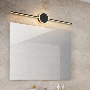 Image 4 - สีดำ/สีขาวโมเดิร์นไฟ LED กระจกเงา 0.4M ~ 0.8M โคมไฟติดผนังห้องนอน headboard Wall sconce Lampe anti FOG espelho ในห้องน้ำ