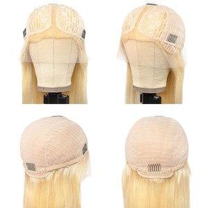 Image 5 - Kısa Bob peruk sarışın 613 dantel ön insan saçı peruk Ombre T1B/613 renk brezilyalı düz uzun ön koparıp siyah kadınlar için Remy