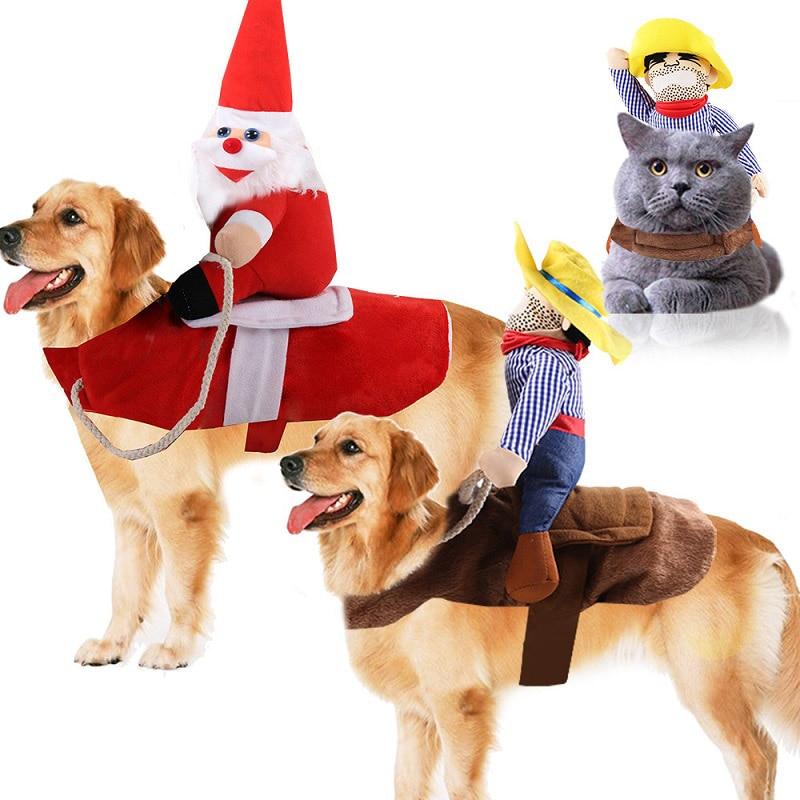 Funny Halloween Dog Costumes Pet Clothes Cowboy Dressing Up Jacket Coats For Dog