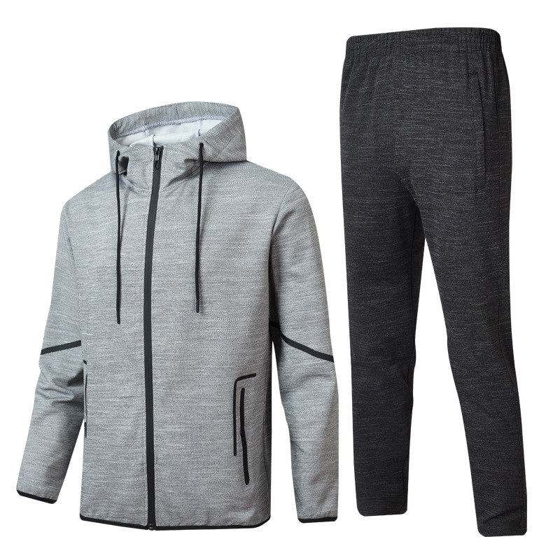 MEN'S Casual Suit Autumn New Style Fashion Hoodie Korean-style Hooded Long-sleeve Sportswear Leisure Sports Suit