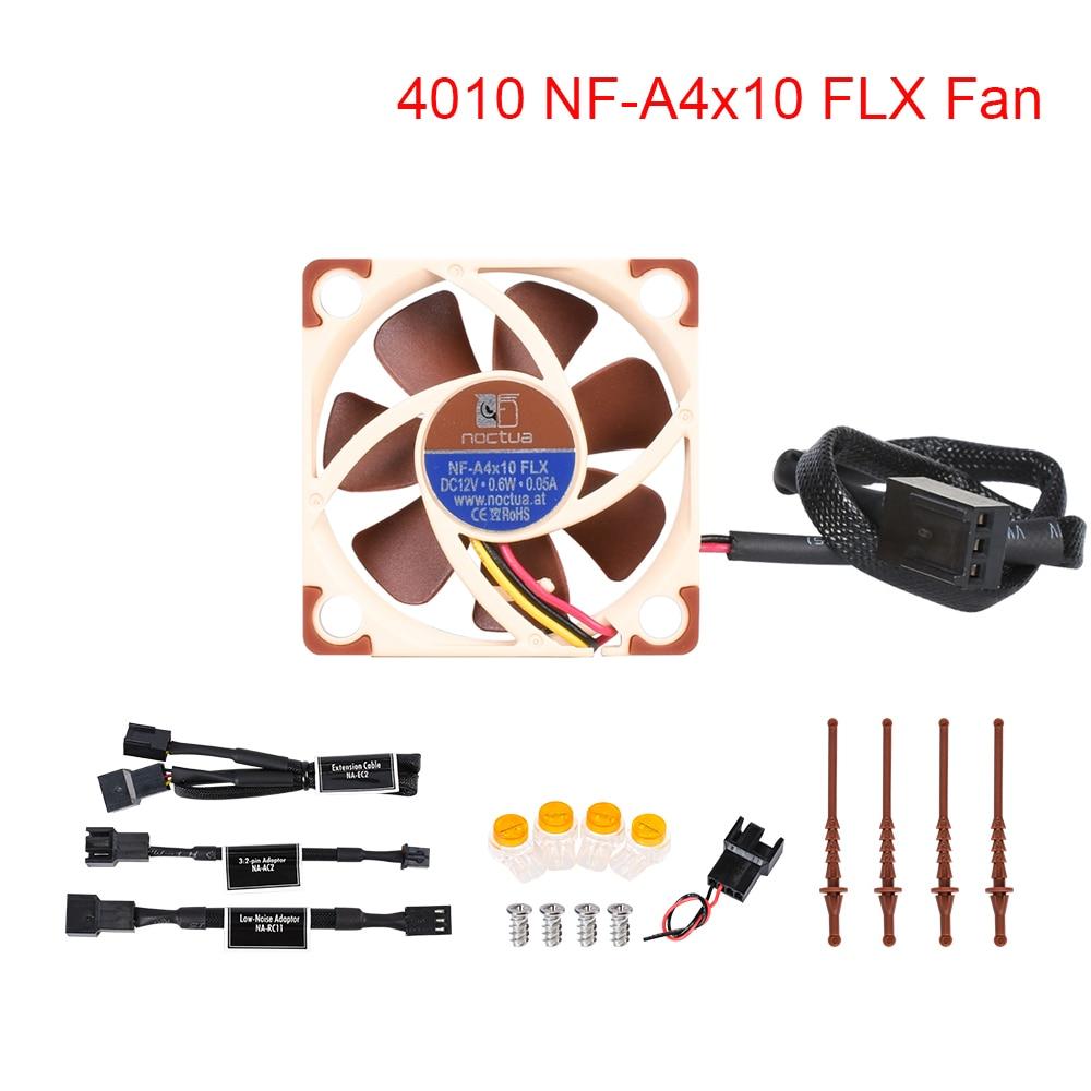 Noctua NF-A4x10 FLX Fan 5/12V 4010 Fan Cooling Fan 40x40x10MM 17.9 DB(A) Cooler Fan Radiator For Ender 3 Pro 3D Printer Parts