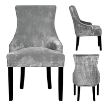 Real Velvet Fabric Sloping Arm Chair Cover big Size XL Wing bakc King Back Covers Seat For Hotel Party Banquet