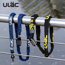ULAC-cadena antirrobo para bicicleta de montaña, bloqueo portátil ultraligero con contraseña, accesorios de seguridad estables
