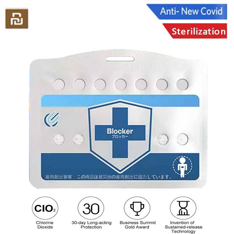YouPin Blocker Portable Disinfection Sterilization Card Inhibition Disinfect Air Purification CLO2 Sterilize Protection Card