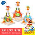 HOLA 828 Baby Speelgoed Elektrische Hip Pop Dance Lezen & Vertellen Verhaal & Interactieve Swing Gans Kinderen Leren Educatief Speelgoed geschenken