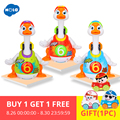 HOLA 828 Brinquedos Do Bebê Hip Pop Dance Ler & Contar a História & Interativo Elétrica Balanço Goose Crianças Aprendendo Brinquedos Educativos presentes
