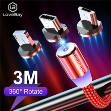 LOVEBAY USB Cable Magnetic Fast Charging Micro USB Cable Type C USB Cable For iPhone