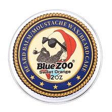 Blau ZOO Natürliche Bart Öl Balsam Schnurrbart Styling Bienenwachs Feuchtigkeitsspendende Glättung Herren Bart Balsam Organische Männer Pflege Kit