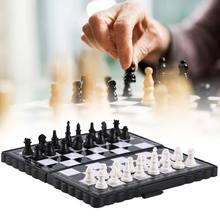Мини Международный шахматы Магнитная складной шахматная доска Портативный дома на открытом воздухе детские игрушечные шахматы игра