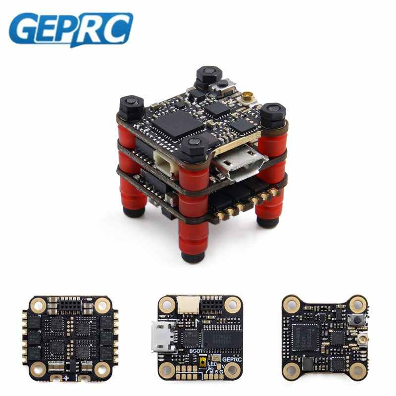 Новейший GEPRC стабильный F411 BetaFlight OSD Контроллер полета 12A Blheli_S 2-4S бесщеточный ESC 25/100/200mW VTX стек 16 мм * 16 мм