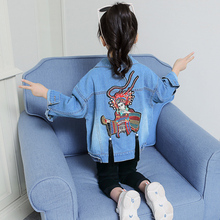 Kids Jeans Jackets for Girls 2019 Autumn Children Outerwear Jacket Denim Coat