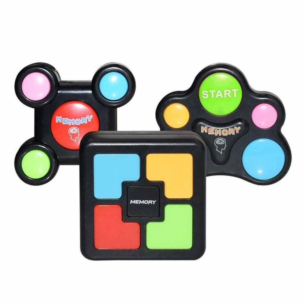 Çocuk bulmacaları bellek oyun konsolu LED ışık ses interaktif oyuncak eğitim el beyin koordinasyonu