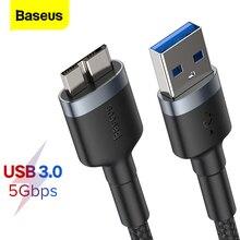 Baseus USB 3.0 Sang Micro B Cáp 5GB Nhanh USB Loại Micro B Cáp Dữ Liệu Cho Samsung s5 Note 3 HDD Ngoài Đĩa Dây