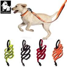 Truelove собака банджи поводок ручной waistworn регулируемый
