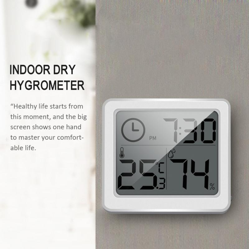 Ultra-thin Minimalist Smart Home Electronic Digital Thermometer And Hygrometer Indoor Dry Hygrometer Home Decoration