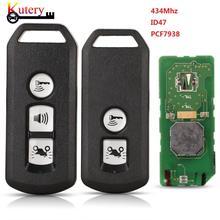 Kutery Remote Motor Key 434mhz ID47 PCF7938 Chip For Honda K35V3 ADV SH 150 Forza 300 125 PCX150 2018 Hybrid Motorbike