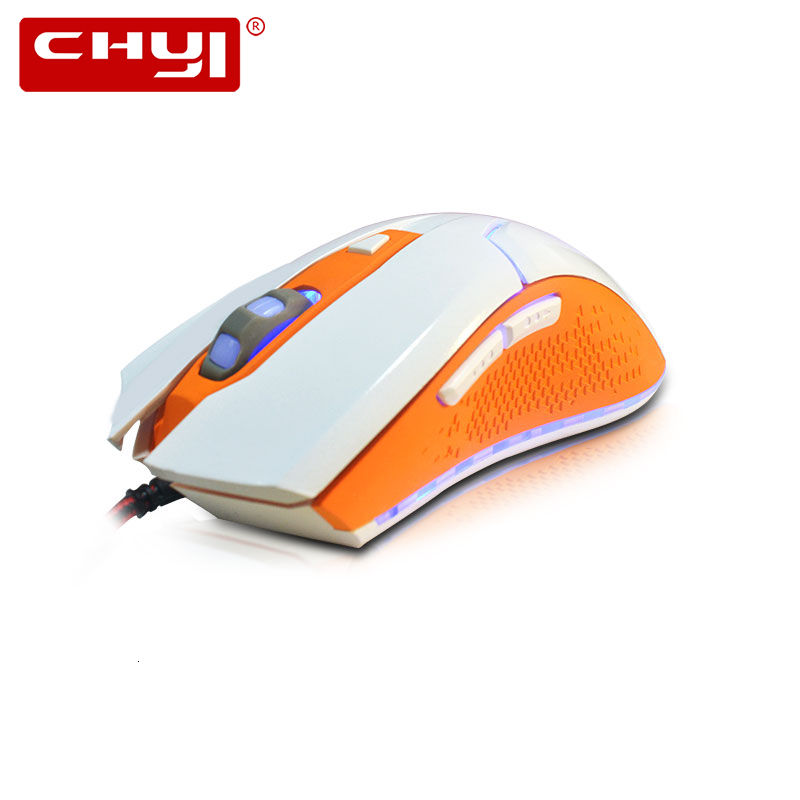 CHYI Wired Gaming Mouse Colorful LED Light Computer Game Mice 800/1000/1600 DPI 6D USB Optical Muase Gamer For Overwatch PC image