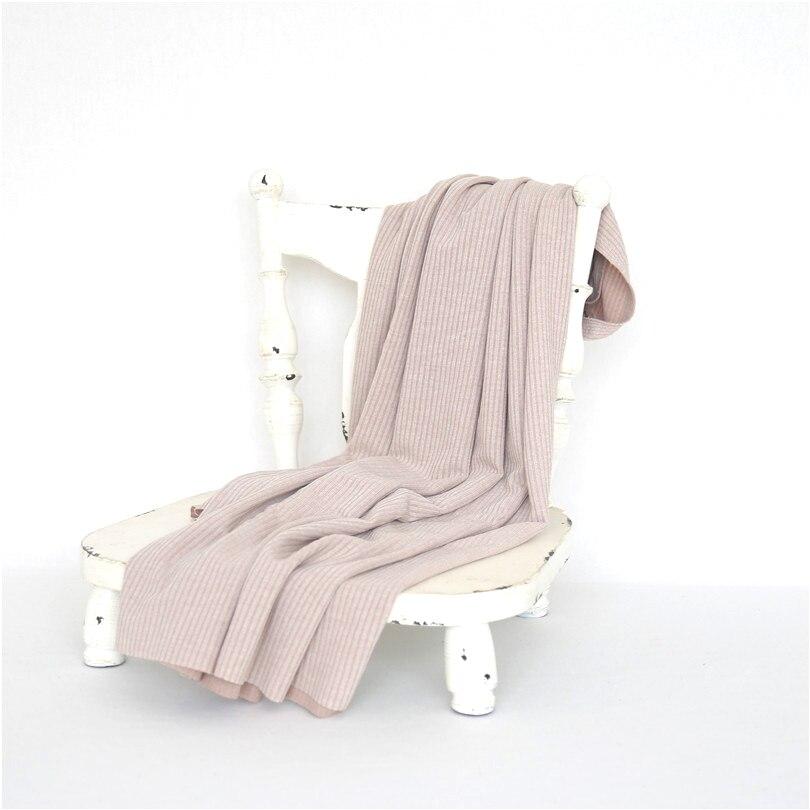 Couverture d'emballement en tricot extensible pour nouveau-né Vintage couverture de toile de fond pour bébé