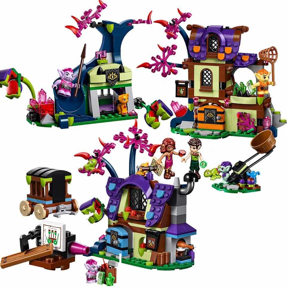 10698 Elves Magic Rescue จากหมู่บ้าน Goblin บล็อกอาคารเด็กอิฐของเล่นเข้ากันได้กับ Lepining เพื่อน 41185