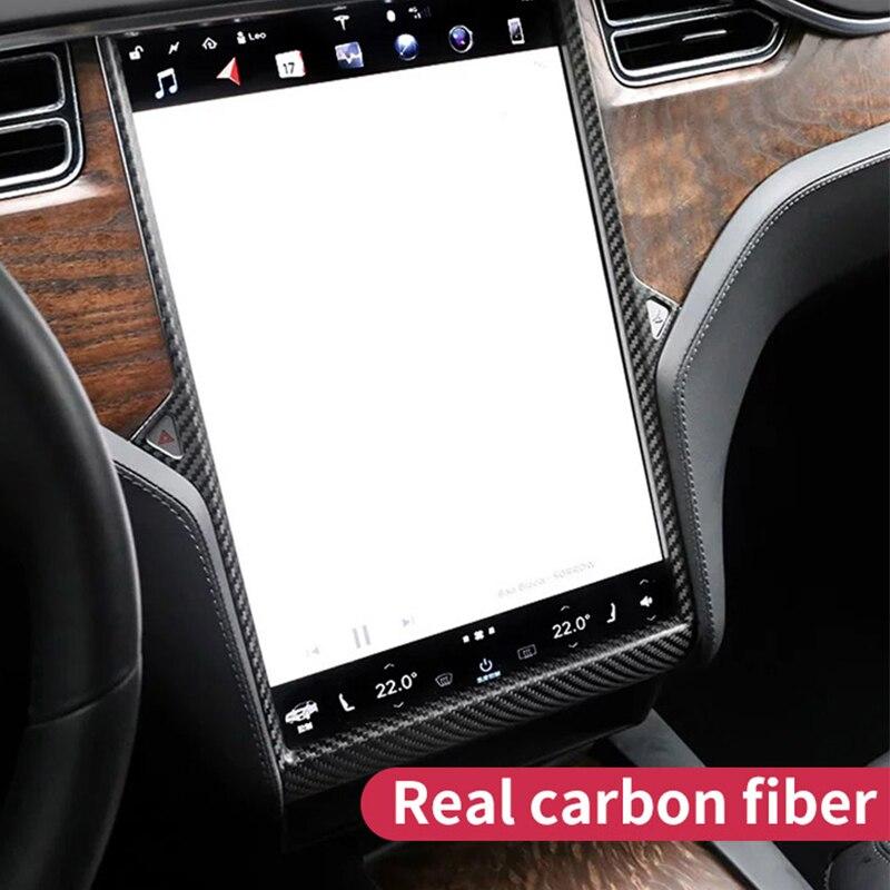 Navigation Frame For Tesla Model S Accessories Tesla Model X Carbon Tesla 2018 Model S Car Tesla Model S Carbon Fiber Interior