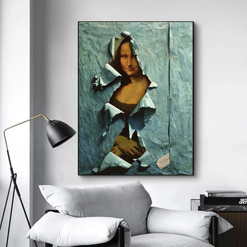 The Famous Mona Lisa Spoof Painting Printed on Canvas 3