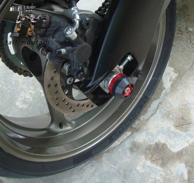 Eixo traseiro dianteiro garfo bater sliders para kawasaki z1000 z1000 2003-2009 06 07 08 acessórios da motocicleta protetor de roda cnc pom