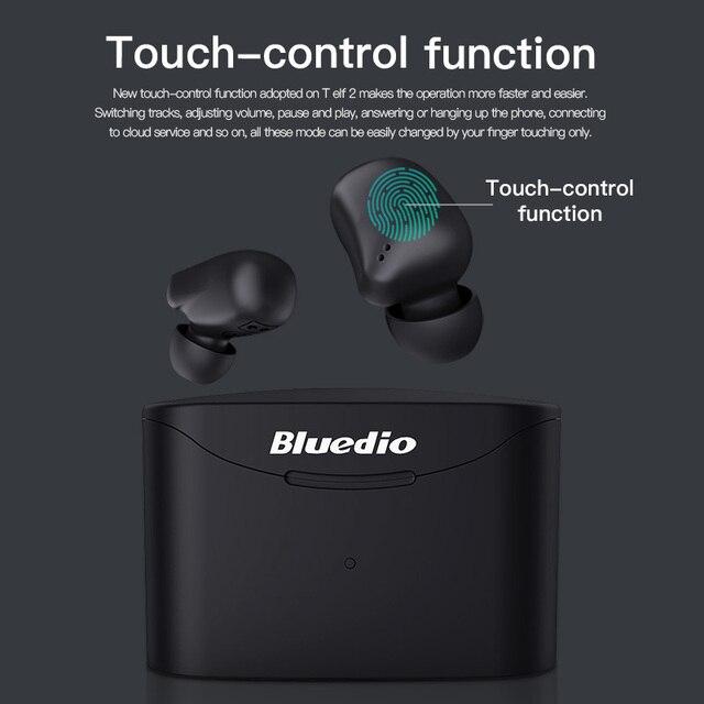 Bluetooth earphone Bluedio T-elf 2 Sports Headset with charging box 6