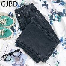 Calças de brim femininas 2021 verão novo streetwear preto vintage calças de cintura alta femme casual lavado baggy mãe calças jeans em linha reta