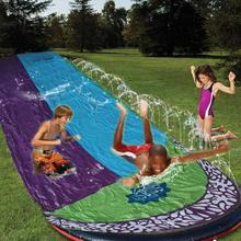 4.8m Double Surf Water Slide PVC Inflatable Lawn Water Slides Pools For Kids Backyard Outdoor Water Games Toy toboggan aquatique