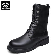 Military Boots Men Winter Shoes Warm Men Leather Boots Footwear Cowboy Tactical Boots Men Casual Shoes(China)