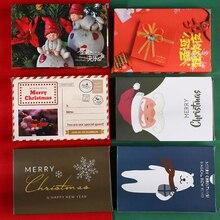 30 шт./упак. Рождественская открытка детские мини-платья; рождественское Благословение Поздравительные открытки конверт год Почтовые открытки подарочная карта Рождество вечерние