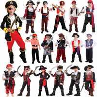Umorden disfraces de Halloween para niños pirata disfraz fantasía Infantil ropa de Cosplay