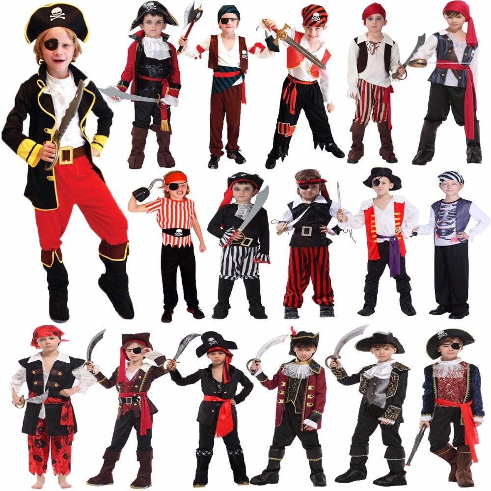 Umorden trajes de halloween para meninos crianças crianças traje pirata fantasia infantil cosplay roupas