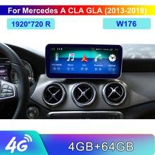 10.25 android 8 4 + 64G dotykowy odtwarzacz z ekranem Stereo wyświetlacz nawigacja GPS dla Benz A CLA GLA klasa 2013 2015 NTG4.5