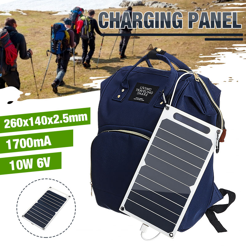 NEW 10W 6V Solar Panel Portable Sunpower Solar Cells USB Mobile Phone Photovoltaic Charging Power Bank