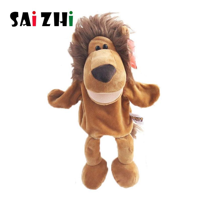 Saizhi 1Pcs Hand Puppet Animal Plush Doll For Kids Children Adult Finger Puppet Glove Mouse Toys Lion Animal SZ4030