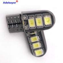 100 adet LED W5W T10 194 168 W5W 2835 6SMD Led park ampul otomatik kama gümrükleme lambası okuma lambası CANBUS silika jel LED araba ışık