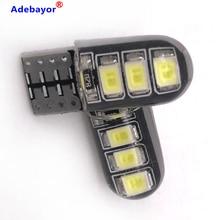 100 sztuk LED W5W T10 194 168 W5W 2835 6SMD Led żarówka do światła postojowego samochodowa lampa obrysowa lampka do czytania CANBUS żel krzemionkowy LED CarLight