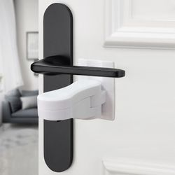 Door Lever Lock for Home Universal Professional Children Kids Safety Doors Handle Locks Baby Anti-open Protection Device
