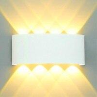 Luz conduzida moderna da parede 2 w 4 6 8 arandelas de parede iluminação exterior interior ip65 à prova dwaterproof água preto branco alumínio casa decorar lâmpada|Luminárias de parede externas| |  -